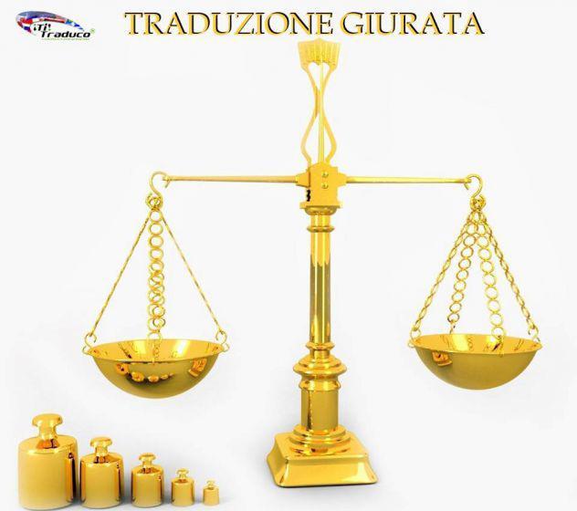 Traduzione giurata tribunale