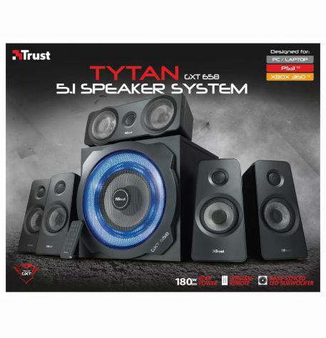 Trust gxt 658 tytan sistema altoparlanti surround 5.1