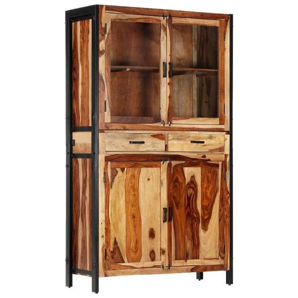 Vidaxl credenza 100x40x175 cm in legno massello di sheesham