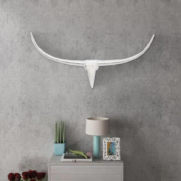 vidaXL Decorazione da parete Testa toro colore argento 100