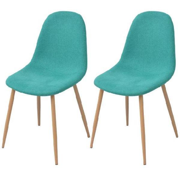 Vidaxl sedie da pranzo 2 pz verdi in tessuto