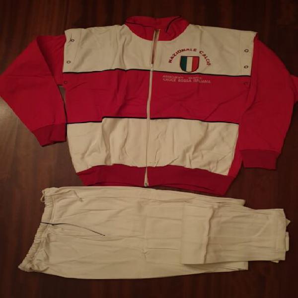 Tuta borsa pantaloncini vintage croce rossa italiana