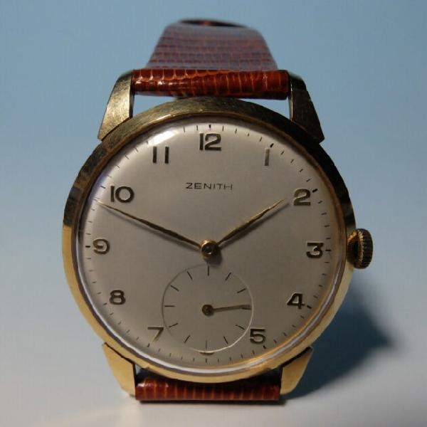 Orologio zenith oro, ore e minuti, anni 40