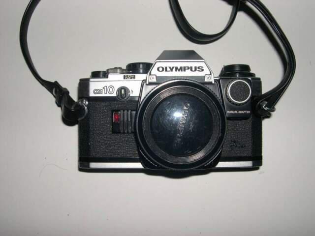 Reflex analogica olympus om 10 con manual adapter