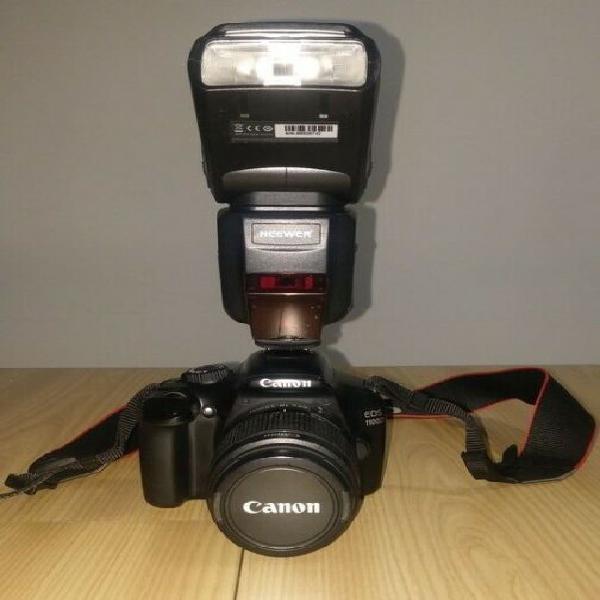 Vendo canon 1100d + obiettivi + flash
