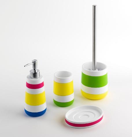 Set 4 accessori da bagno in resina tft accessories