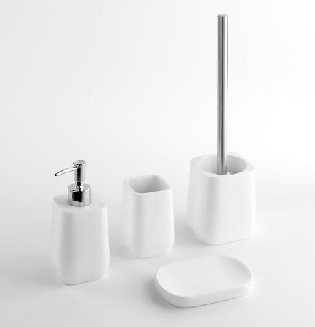Set 4 accessori da bagno in resina tft accessories bianco