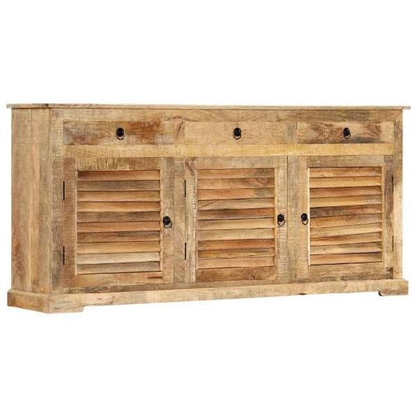 Vidaxl armadietto 170x38x80 cm in legno massello di mango