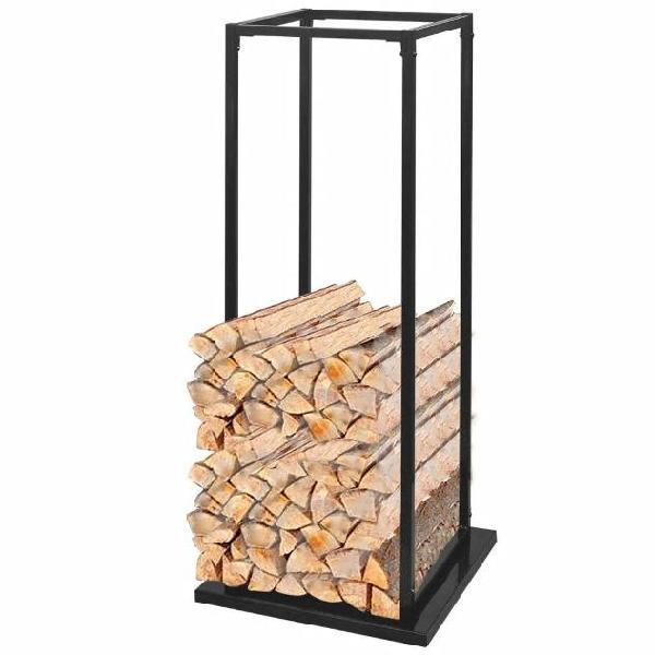 Vidaxl porta legna da ardere con base 113 cm
