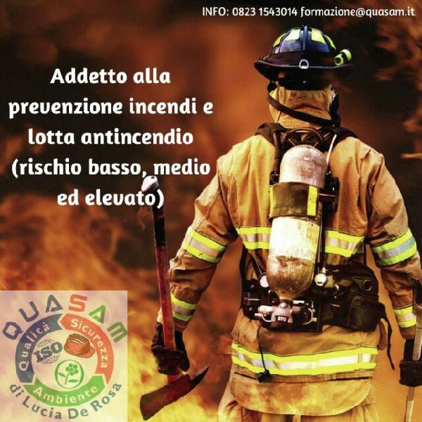 Corso addetto antincendio e aggiornamenti