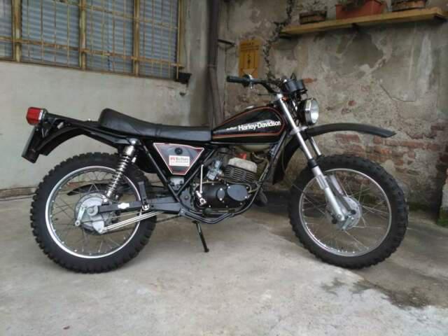 Harley davidson ss125 allestimento sxt targa originale 1977