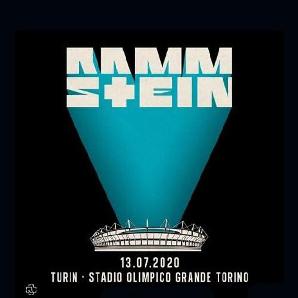 Rammstein - Torino 2020 - il 13 luglio 2020 - partenza da