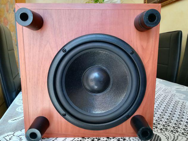 Sub-woofer amplificato wharfedale power cube 8a, 100watt....
