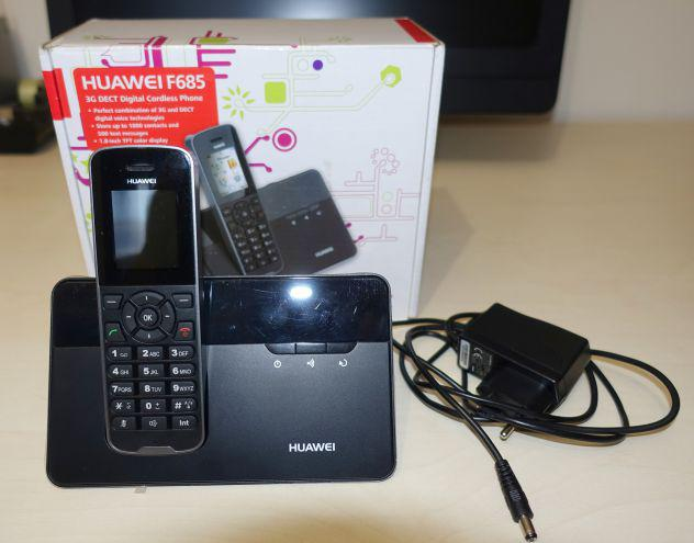 Telefono cordless fisso gsm-3g huawei f685 con sim+sped