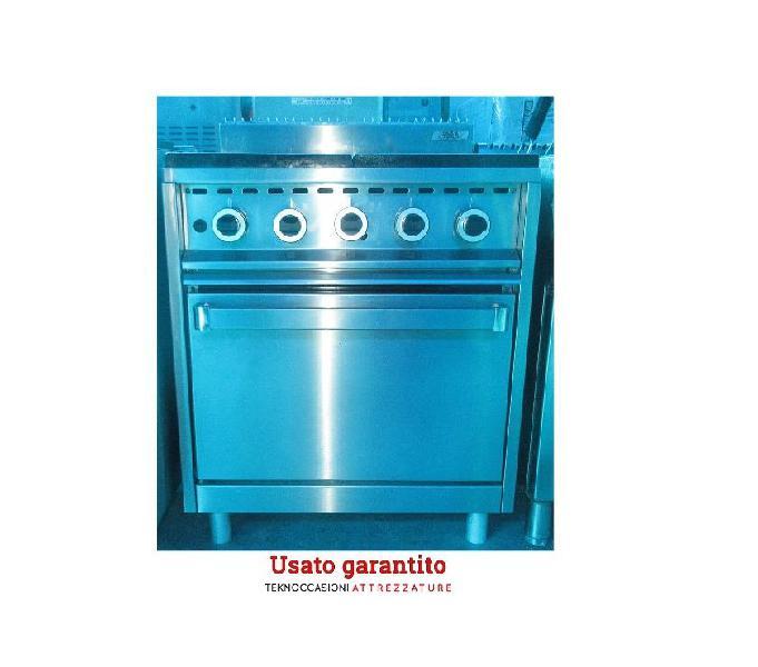 Cucina a gas 4 fuochi con forno MBM