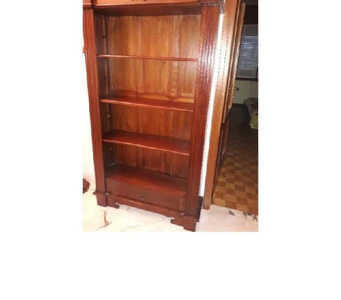 Libreria legno massello antica