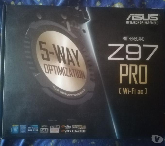 Scheda madre asus z97 pro, processore i7-4790, 2 schede ram