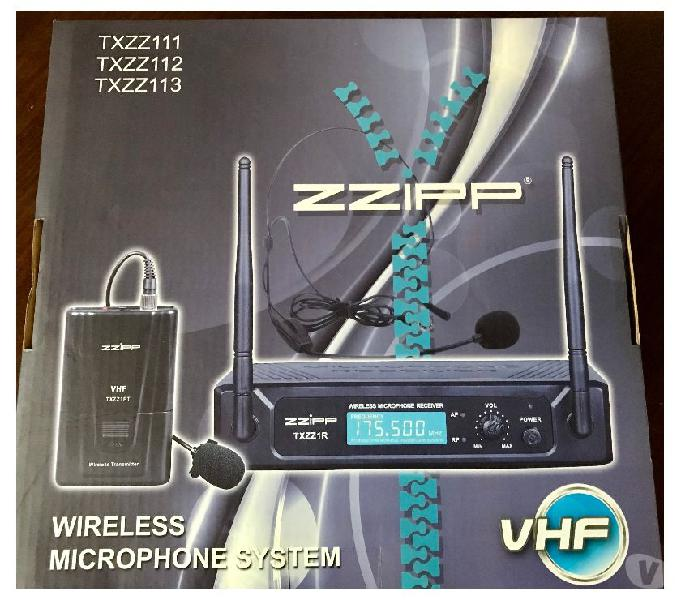 Zzipp set radiomicrofono archetto e levalier nuovo