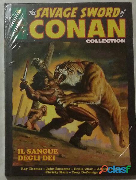 The savage sword of conan collection uscita 9. il sangue degli dei nuovo con cellophane
