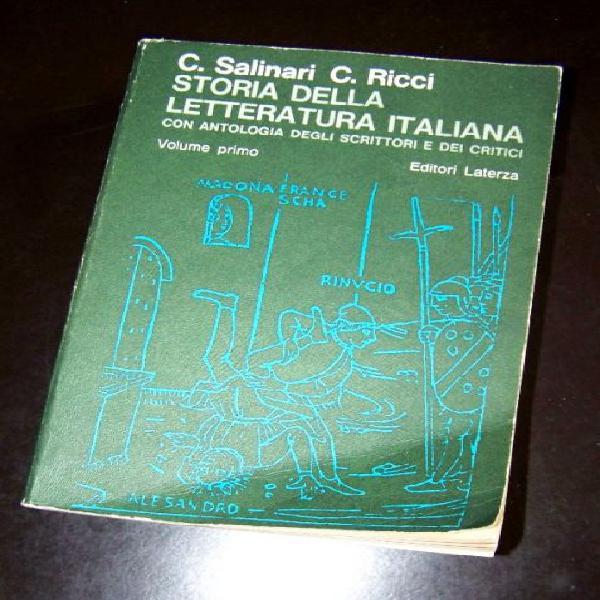 Storia della Letteratura Italiana Salinari Ricci, volume