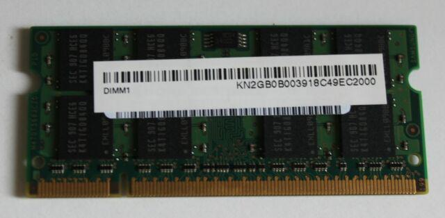 Memoria portatile notebook 2gb, ddr2
