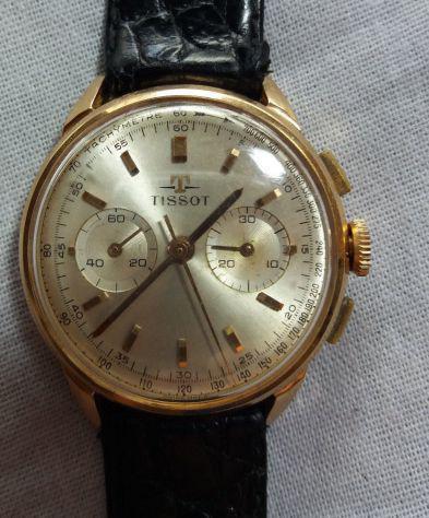Orologio cronografo tissot vintage anni 60 lemania carica