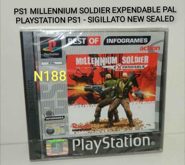 Ps1 millennium soldier expendable pal raro sigillato