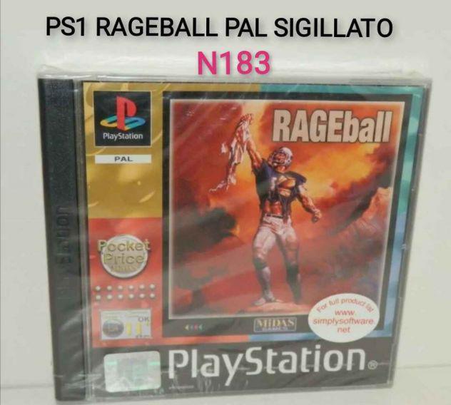 Ps1 rageball pal raro sigillato