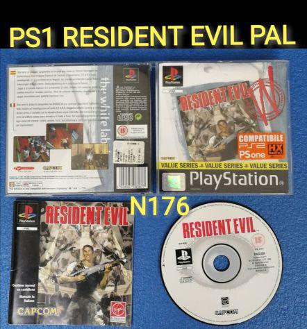 Ps1 resident evil pal 1 stampa