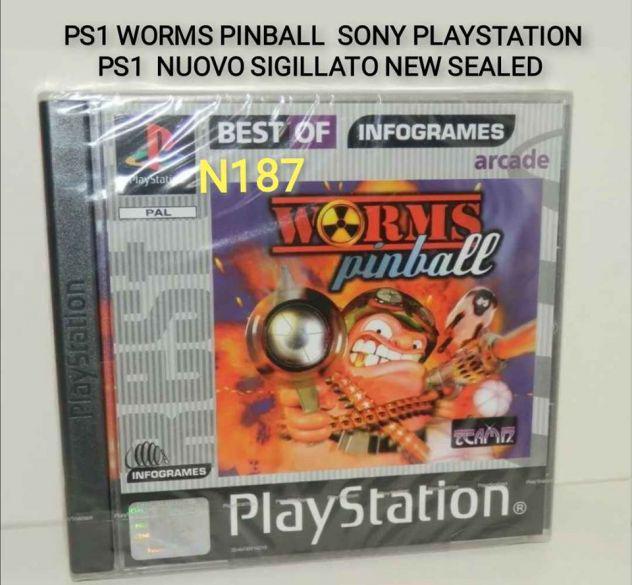 Ps1 worms pinball pal sigillato raro