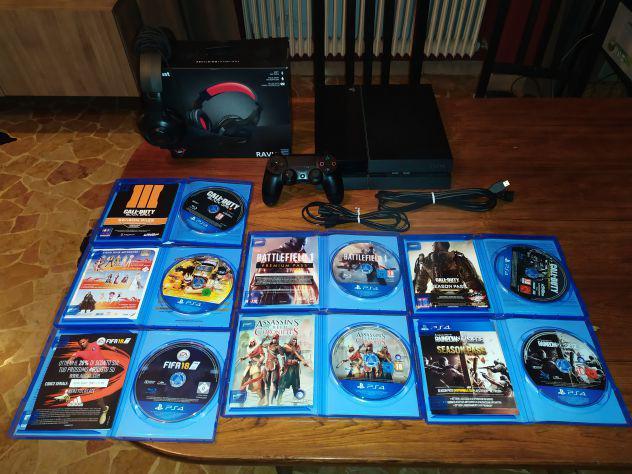 Playstation 4 + controller + cuffie + 7 giochi