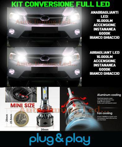 Subaru forester mk4 kit led lampade abbaglianti h7 +