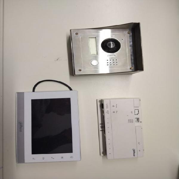 Dahua kit videocitofono esterno e copri cromato, interno
