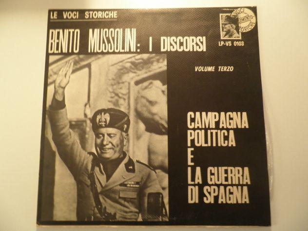 Le voci storiche – benito mussolini: i discorsi volume