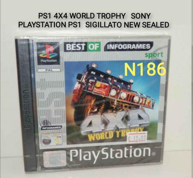 Ps1 4x4 world trophy pal sigillato raro