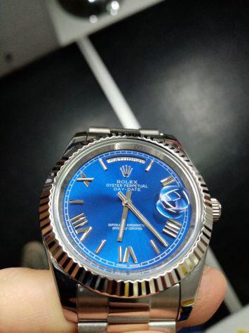 Rolex replica daydate blu