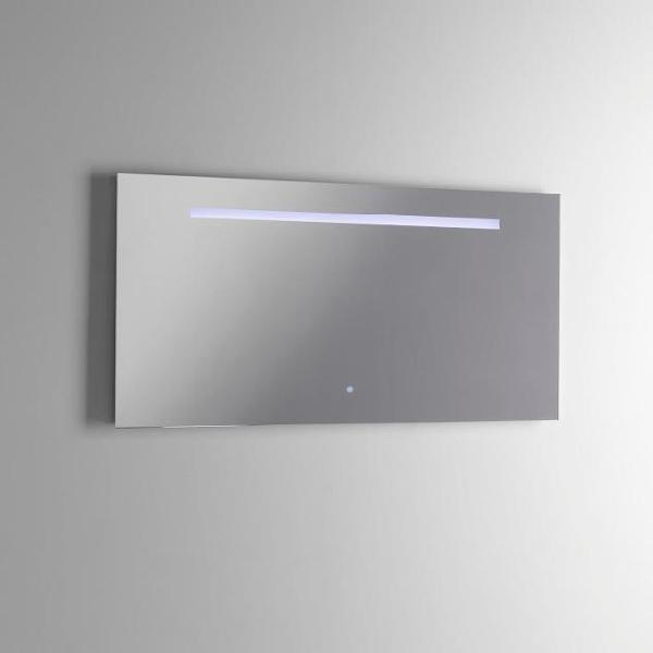 Specchio con lampada a led in 100x2,5x50cm tft axel specchio