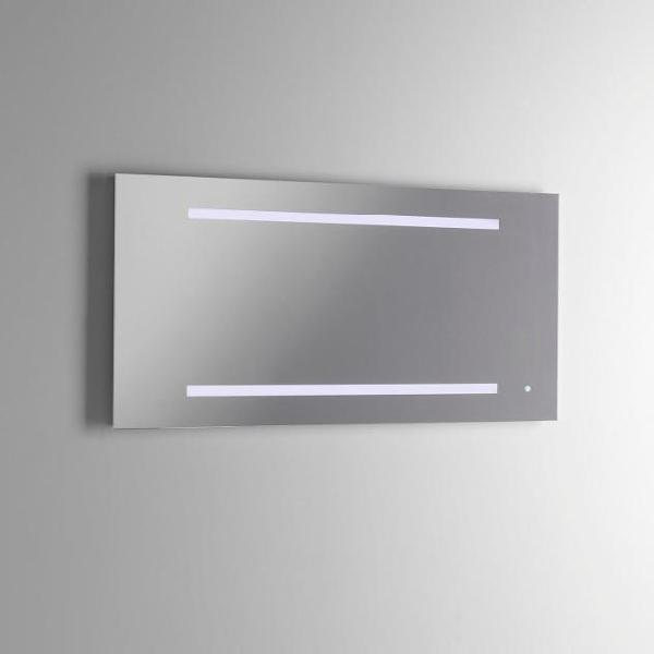 Specchio con lampada a led in 100x2,5x50cm tft opera