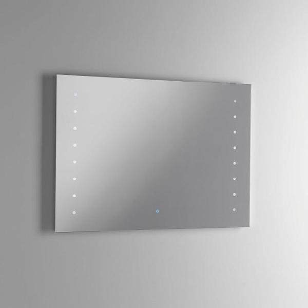 Specchio con lampada a led in 90x2,5x65cm tft ellen specchio