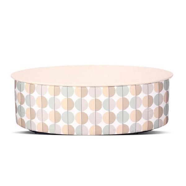 Tavolino contenitore imbottito in mdf nuzzi pratiko optical