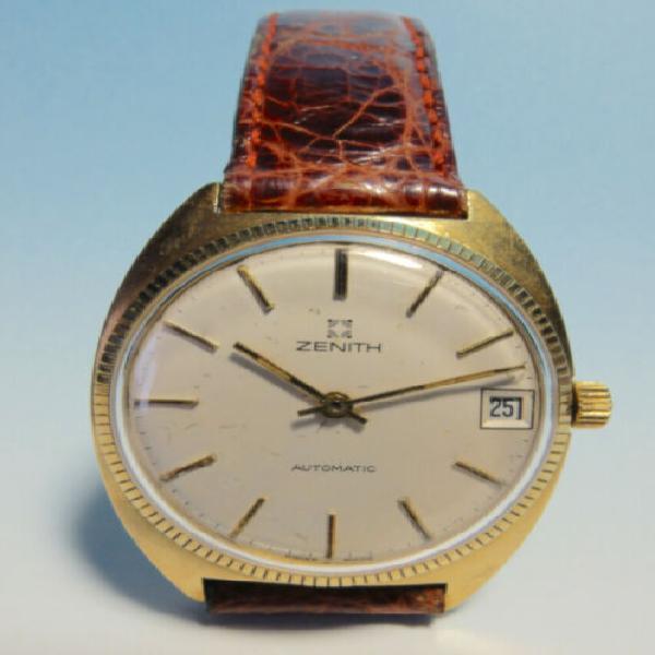 Zenith captain automatico vintage, oro 18k, cal. 2572pc,