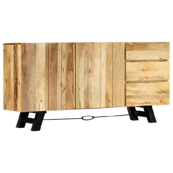 Vidaxl credenza 160x42x80 cm in legno massello di mango