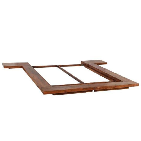 Vidaxl giroletto futon in stile giapponese legno massello