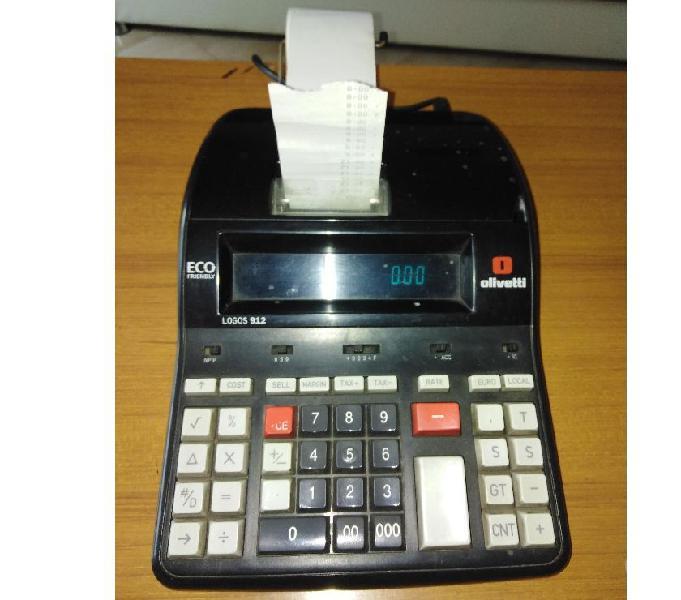 Calcolatrice da scrivania ufficio tavolo olivetti stampa car