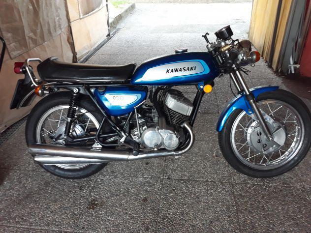 Kawasaki 500 h1-a azzurro conservato
