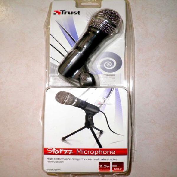 Microfono starzz trust per pc, laptop, amplificatore,