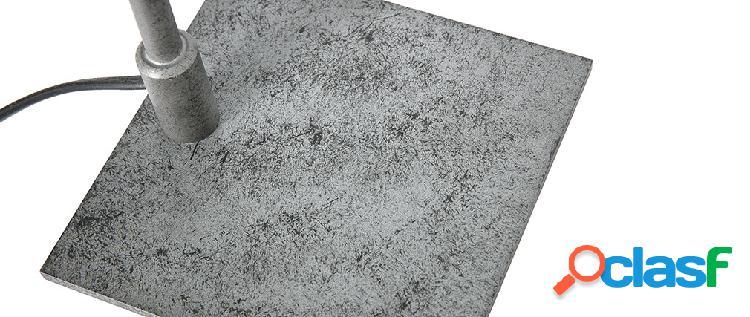 portapenne rotondo da scrivania con motivo marmo Grey Yosco in ceramica