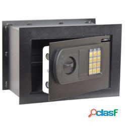 Cassaforte da muro - serratura elettronica - 33x20x23 cm - 9 kg - nero - iternet (unità vendita 1 pz.)
