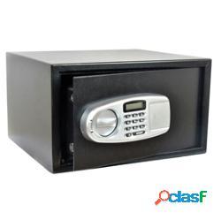 Cassaforte di sicurezza - serratura elettronica - 43x36,5x25 cm - 15 kg - nero - iternet (unità vendita 1 pz.)