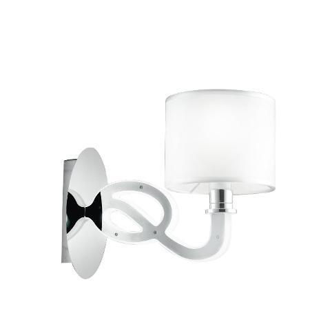 Applique acrilico acciaio profilo led lampada moderna 4 watt
